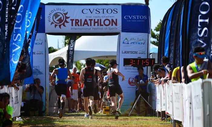 Honolulu Triathlon - Ala Moana Beach Park/Magic Island: 10K Run Entry for One, Two, or Four from Honolulu Triathlon on May 15 (Up to 50% Off)