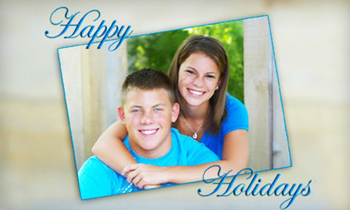 "Spotlight Photography - Multiple Locations: Photo Shoot with 11""x14"" Print or Holiday Package with 15 Custom Cards from Spotlight Photography (Up to 87% Off)"