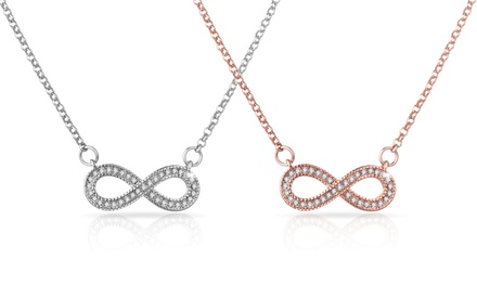 One or Two Philip Jones Infinity Filigree Necklaces with Crystals from Swarovski®