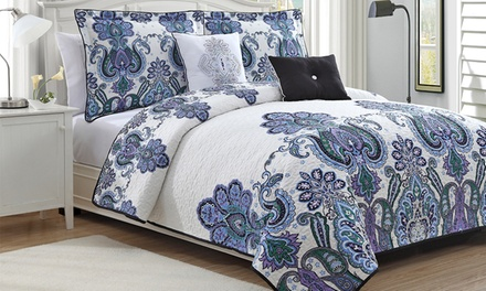 Melisenta 5-Pc Reversible Quilt Set