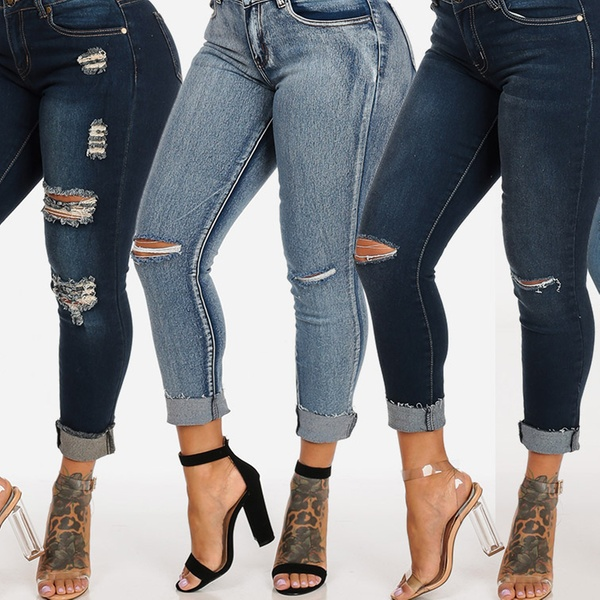 6ec3aa0977de Ripped One-Button Mid-Rise Skinny Ankle Jeans (Junior Sizes) | Groupon