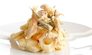 Nero.Base: Menu All you can eat di fritti con pesce, pizze, supplì e birra per 2 o 4 persone al ristorante Nero.Base (sconto 48%)
