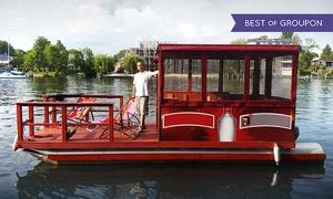 Müggelspree Floss Köpenick: 6 Std. Floßmiete für bis zu 8 Personen zwischen Montag und Donnerstag von Müggelspree Floß Köpenick (bis zu 44% sparen*)