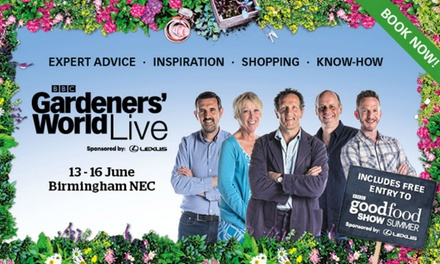 BBC Gardeners' World Live, Afternoon Tickets, 1316 June 2018 at The National Exhibition Centre, Birmingham