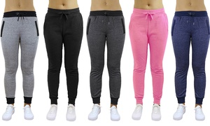 Galaxy By Harvic Women's Slim Fit Sweatpants. Plus Sizes Available.