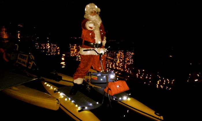 Long Beach HydroBikes - Belmont Shore: Holiday-Lights Tour for One or Two from Long Beach Hydrobikes (50% Off)