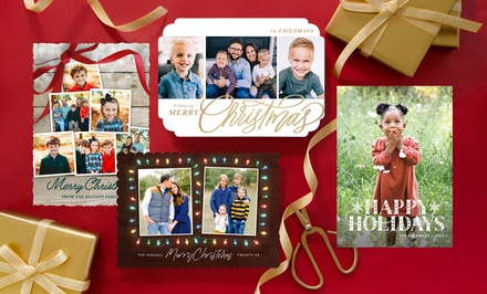 40, 70, or 100 Custom Holiday Photo Cards from PhotoAffections (Up to 81% Off )