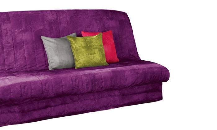 groupon goods global gmbh housse de clic clac unie matelass coloris au choix with housse pour. Black Bedroom Furniture Sets. Home Design Ideas