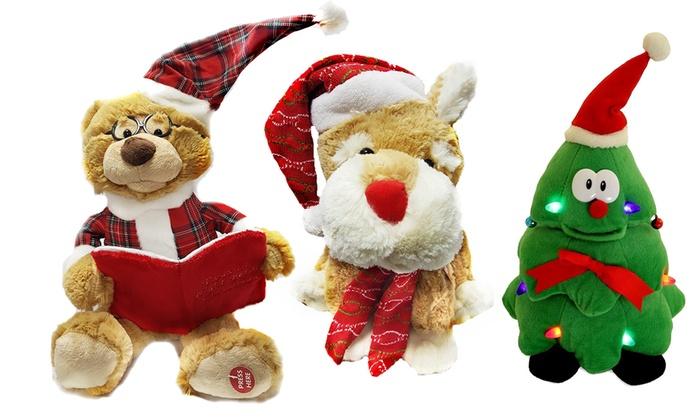 animated plush christmas toys - Singing Christmas Toys