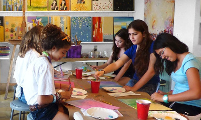 The Fun Palette - North Miami Beach: $29 for One Drop-in Kids' Summer-Camp Art Class with All Materials Included at The Fun Palette ($65 Value)