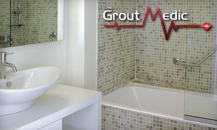 The Grout Medic - Louisville: $69 for Tub or Shower Re-Caulking or Vapor Clean and Color Sealant for Tile from The Grout Medic (Up to $150 Value)