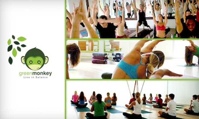 Green Monkey - Multiple Locations: Yoga and Pilates Classes at Green Monkey. Choose from Three Options.