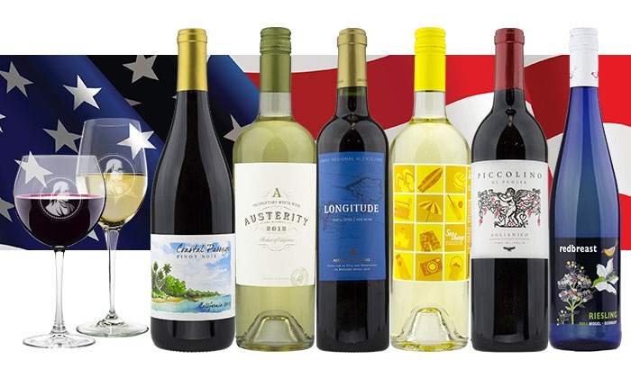Franklin Mint Wine Merchants: Curated 6- or 12-Bottle Pack of Red, White, or Mixed Wine from Franklin Mint Wine Merchants (Up to 79% Off)