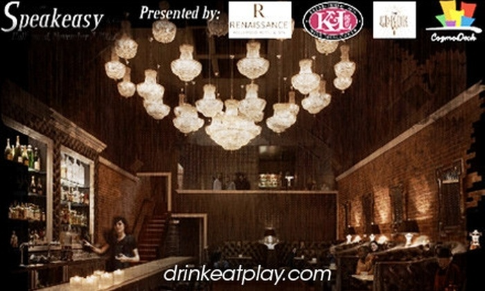 DrinkEatPlay - Hollywood: $60 VIP Ticket to DrinkEatPlay's Speakeasy Event with Unlimited Tastings ($150 Value)