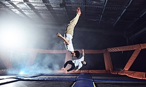 Two 60-Minute Jump Passes for Indoor Trampolining at Sky Zone Covina (Up to 50% Off)