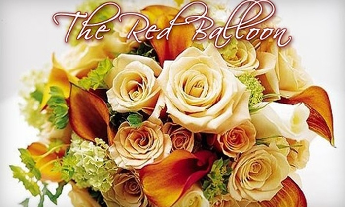 The Red Balloon Florist - Downtown Oshawa: $25 For $50 Worth of Flowers, Gifts, and Balloons at The Red Balloon Florist