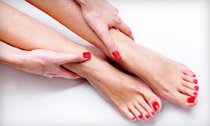 Amplify Tanning, Nails, & More - Portage: $24 for a Shellac Mani-Pedi at Amplify Tanning, Nails, & More in Portage ($55 Value)