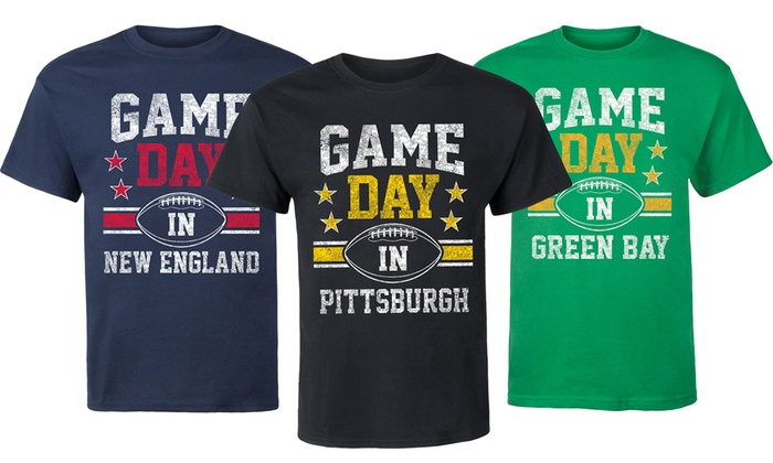 Men's Football Game Day Cities Tees
