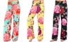 Women's Floral Pants in Regular and Plus Sizes