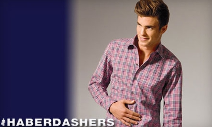 Haberdashers - Evergreen: $25 for $50 Worth of Men's Apparel at Haberdashers in Lake Oswego