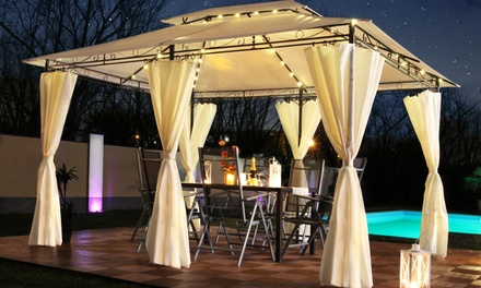 Swing & Harmony LED Illuminated Gazebo in Choice of Colour With Free Delivery