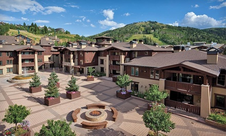 Stay at The Chateaux Deer Valley in Park City, UT. Dates into July.