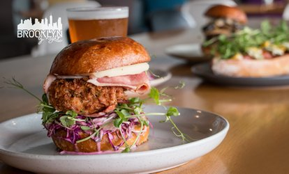 Burgers and Beers with a Side to Share for 2 ($39), 4 ($75) or 6 People ($110) at Brooklyn By Night (Up to $201 Value)