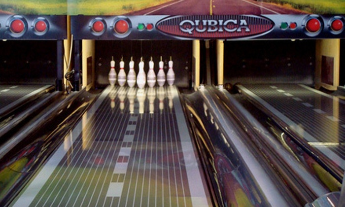 Gameworld - Pioneer: Bowling with Shoes, Pizza, and Drinks for Two or Four or Arcade Gaming Credit at Gameworld (Up to 66% Off)