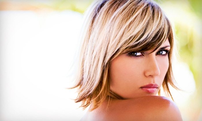 Indigo Hair Spa - Downtown: Haircut and Style with Optional Single-Process Color or Partial Highlights at Indigo Hair Spa (Up to 71% Off)