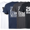 Men's Class of 2018 Tees. Extended Sizes Available.