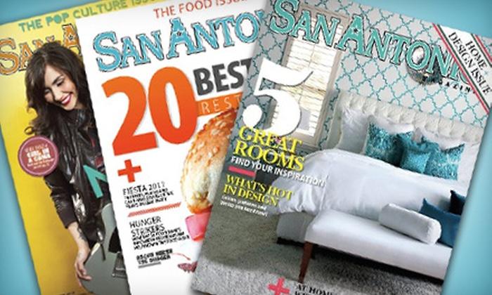 """San Antonio Magazine"" - Boerne: $10 for a Two-Year Subscription to ""San Antonio Magazine"" ($20 Value)"