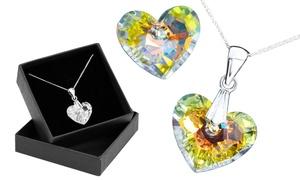 Pendentif en forme de cœur orné de cristaux Swarovski®