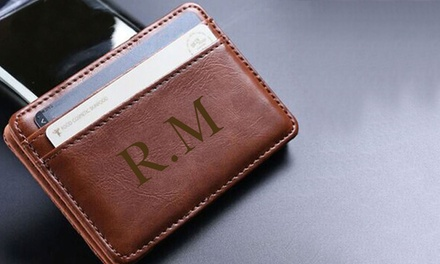 for a Personalised Leather Wallet Don't Pay up to $69.16
