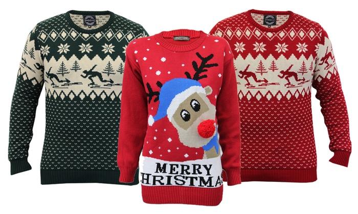 pull de noel pour homme Pulls de Noël pour homme ou pour femme à manches longues | Groupon pull de noel pour homme