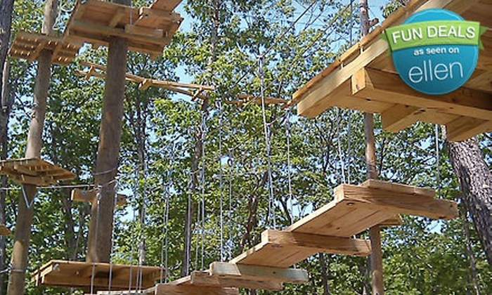 Seacoast Fun Park - North Windham: $25 for Zipline Package with Two-Hour Ropes Course and Instructional Class at Seacoast Fun Park (Up to $53 Value)