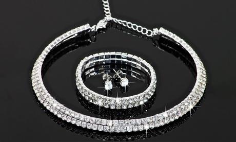 1 o 2 conjuntos de 3 joyas FM con cristales de Swarovski®