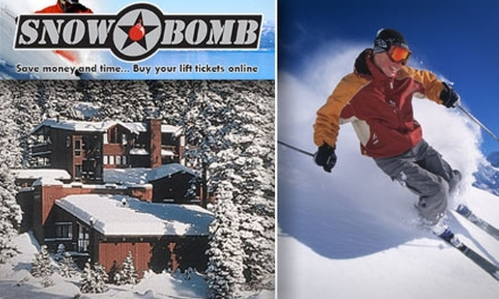 SnowBomb - San Jose: $20 for SnowBomb Tahoe Card ($40 Value), Includes Lift Tickets, Restaurant and Hotel Discounts, and More