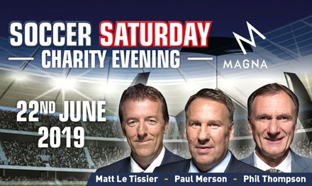 Soccer Saturday Evening with Paul Merson for Up to Four at Magna Science Adventure Centre on 22 June