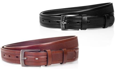 0457b48df4e0 Cinturón de cuero Solier para hombre disponible en 2 colores por 19 ...