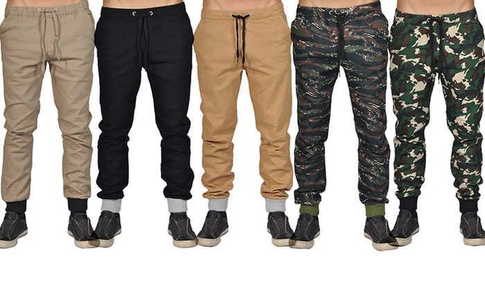 Dirty Robbers Men's Elastic-Waistband Joggers
