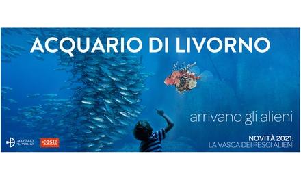 Ingresso all'Acquario di Livorno a 11€euro