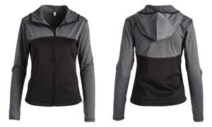Women's Junior Full Zip-Up Color-Block Track Jacket (Size XL)