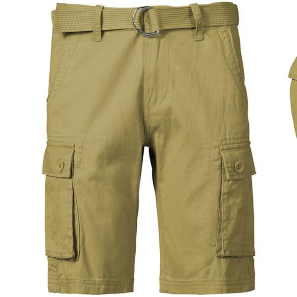 b33f911fea 1688 Revolution Men's Cotton Cargo Shorts with Belt   Groupon