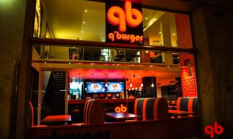 Menú para 2 o 4 personas con entrante, hamburguesa y bebida desde 19,99 € en Q'Burger Oferta en Groupon