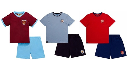 Men's Officially Licensed Football Short Pyjama Set