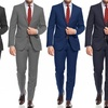 Sanetti Men's Slim-Fit Two-Piece Suits