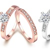 2-Piece Pave Ring Set Made with Swarovski Elements by Jewelry Elements