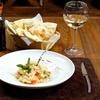 Menu con bis di risotti e vino
