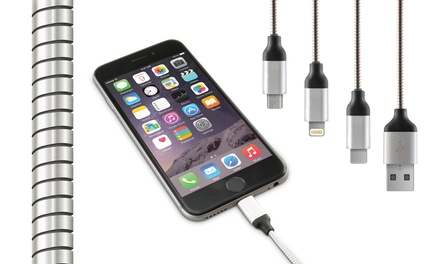 1, 2 o 3 cables USB de metal
