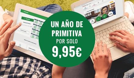 Primiabono: abono de la Primitiva durante 1 año por 9,95 € en Ventura24